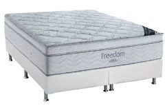 Conjunto Box: Colchão Ortobom SuperPocket Freedom + Cama Couríno White -